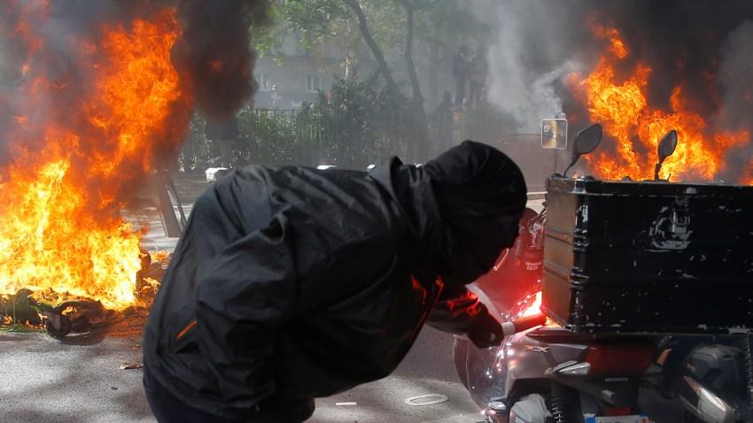 APTOPIX France Protests
