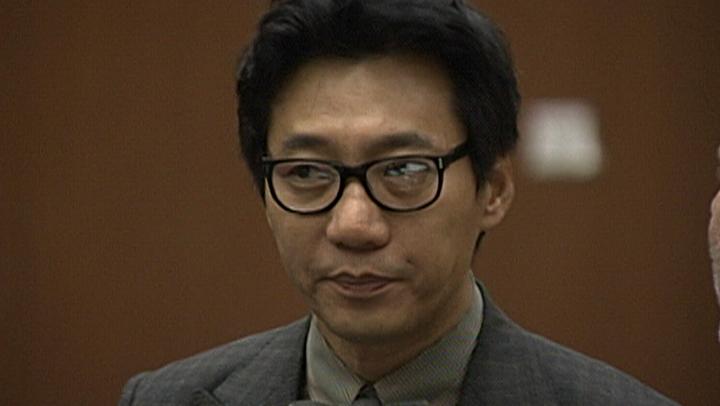 pinkberry founder arraignment closeup no smile