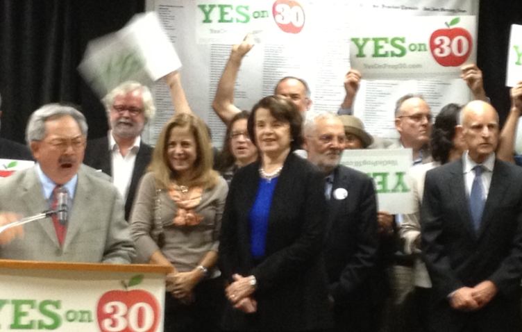 Prop 30 rally