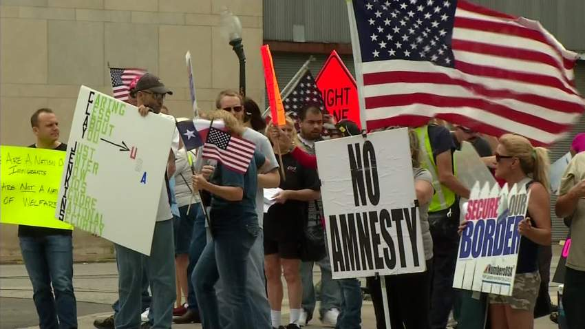 Immigration Protest in DFW