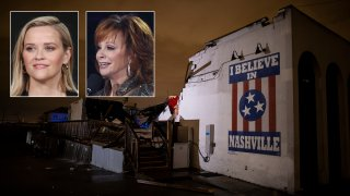 Reese Witherspoon and Reba McEntire react to tornado in Nashville