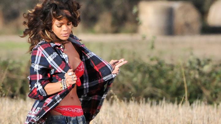 Rihanna 'We Found Love' music video shoot, Bangor, Northern Irel