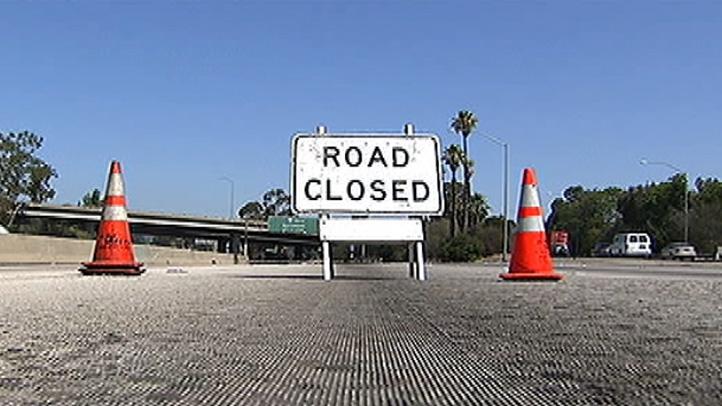 Generic photo of a road closure