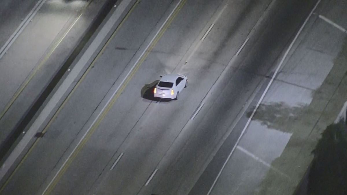 Driver Leads Police on Pursuit in Newhall Area