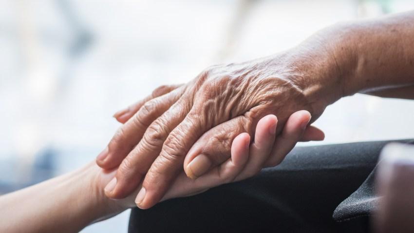 Senior citizen hand