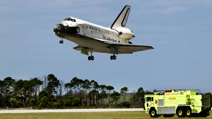 Space Shuttle Lands