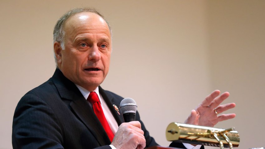 In this Jan. 26, 2019, file photo, U.S. Rep. Steve King, R-Iowa, speaks during a town hall meeting in Primghar, Iowa.