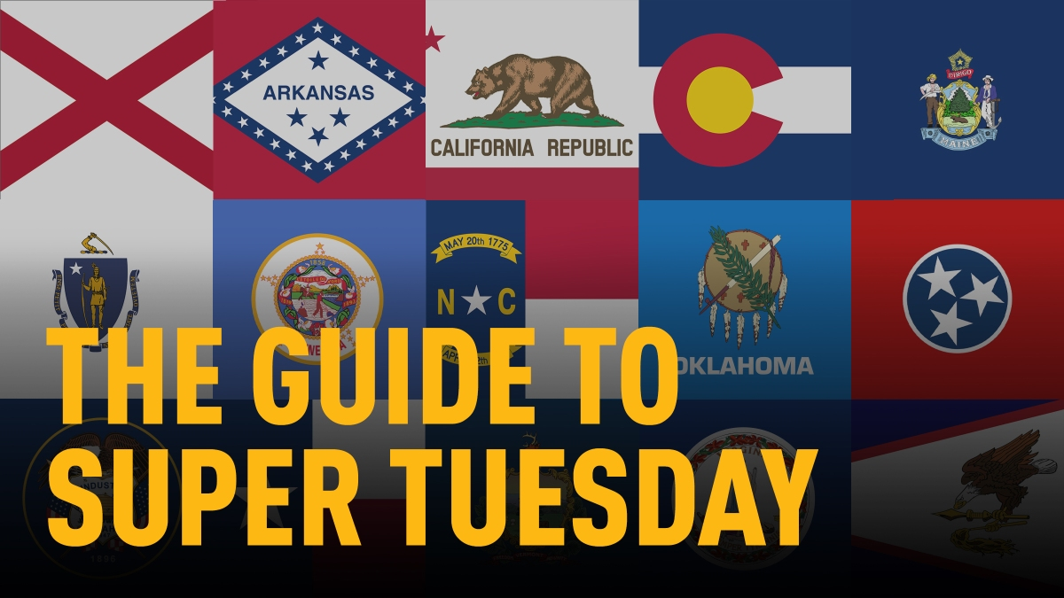 Super Tuesday Guide for 2020 Primary 1