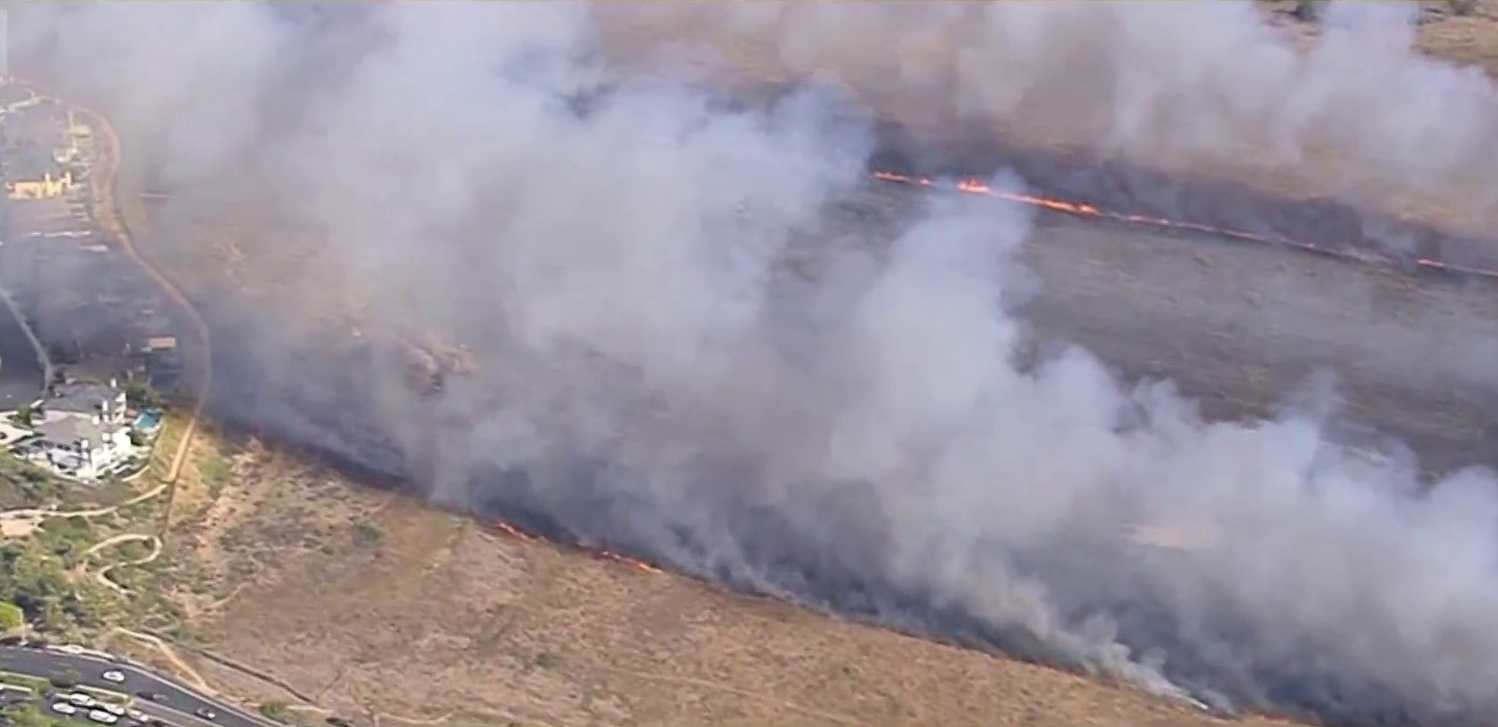 Firefighters Contain Brush Fire Just 100 Yards Away From Homes in Huntington Beach
