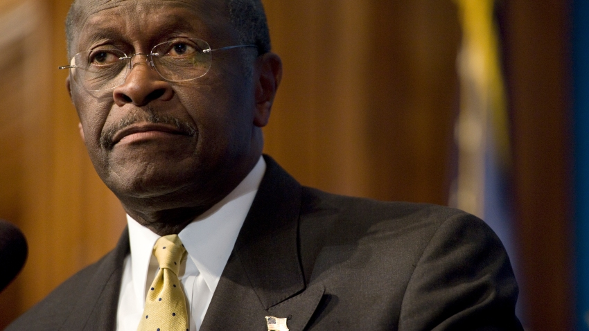 A file photo of Herman Cain, a candidate for the Republican presidential nomination, at the National Press Club in Washington, DC on October 31, 2011.