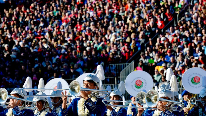A view of the 2020 Rose Parade.