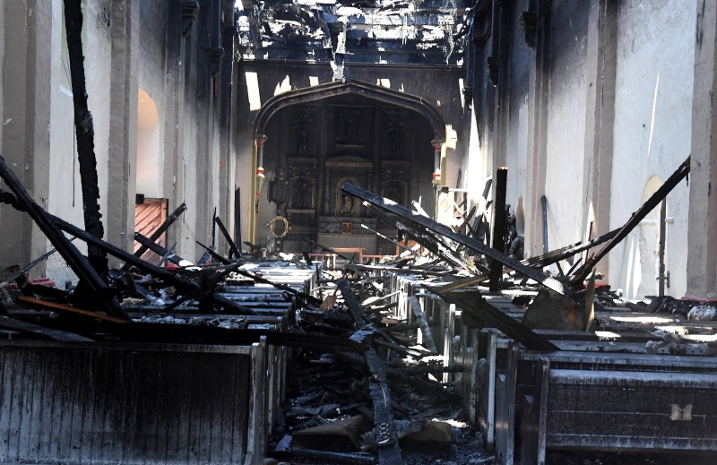 Photos: The Aftermath of an Early Morning Fire at the Historic San Gabriel Mission