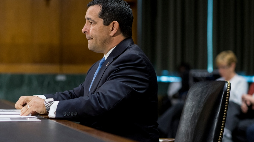 UNITED STATES - MAY 15: William R. Evanina, nominee to be director of the National Counterintelligence and Security Center, takes his seat for his confirmation hearing in the Senate (Select) Intelligence Committee on Tuesday, May 15, 2018.