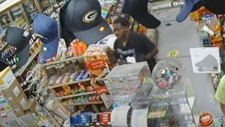 Man in a liquor store