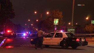 Deputies respond to a shooting in Ladera Heights.