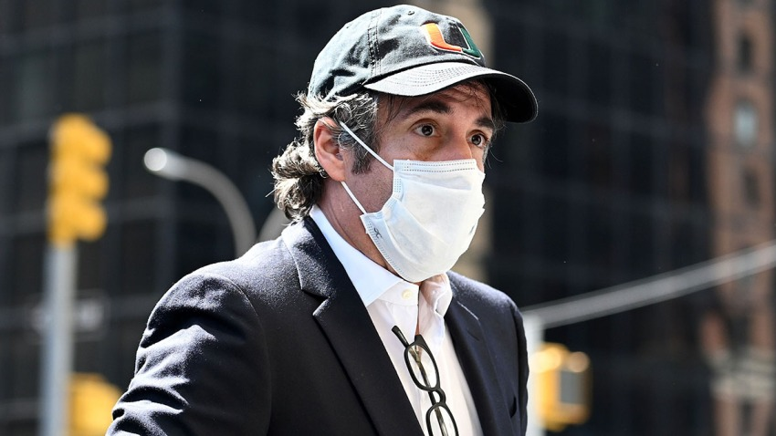 Michael Cohen arrives at his Park Avenue apartment on May 21, 2020, in New York City.