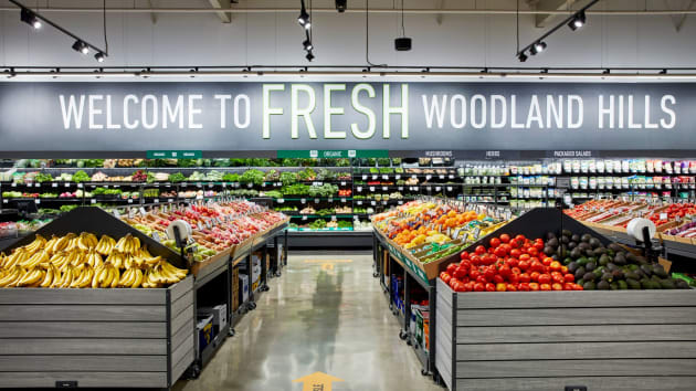 Amazon's new FRESH grocery store in Woodland Hills, California.
