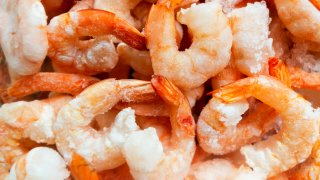 frozen cooked and peeled shrimp