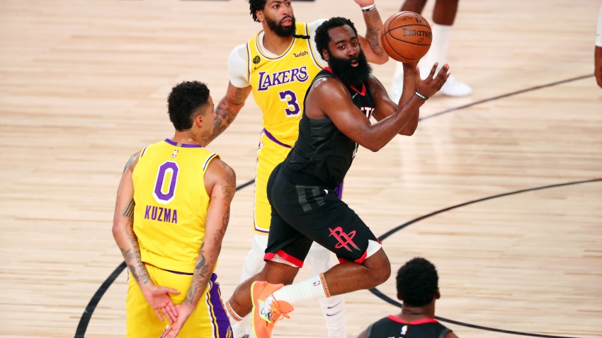 James Harden Scores 39 As Rockets Defeat Short Handed Lakers 113 97 Nbc Los Angeles
