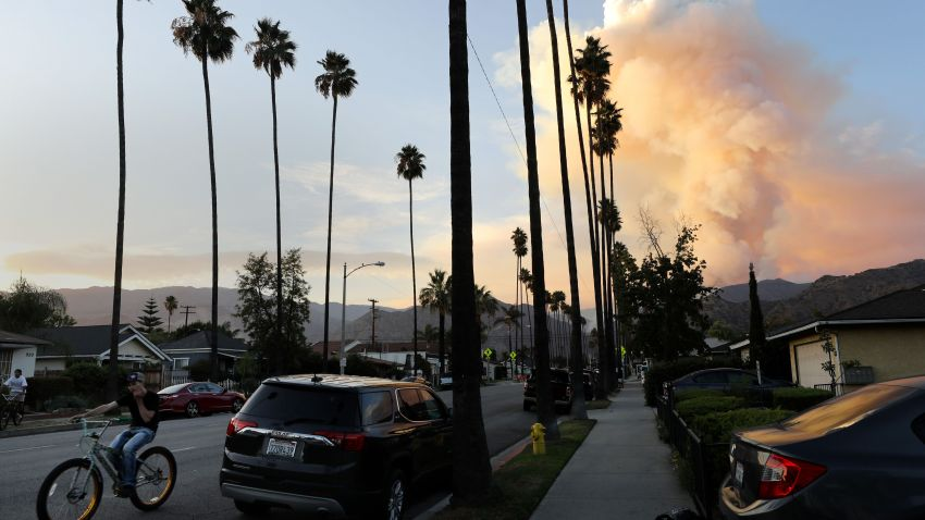 The Ranch 2 fire burns in Azusa