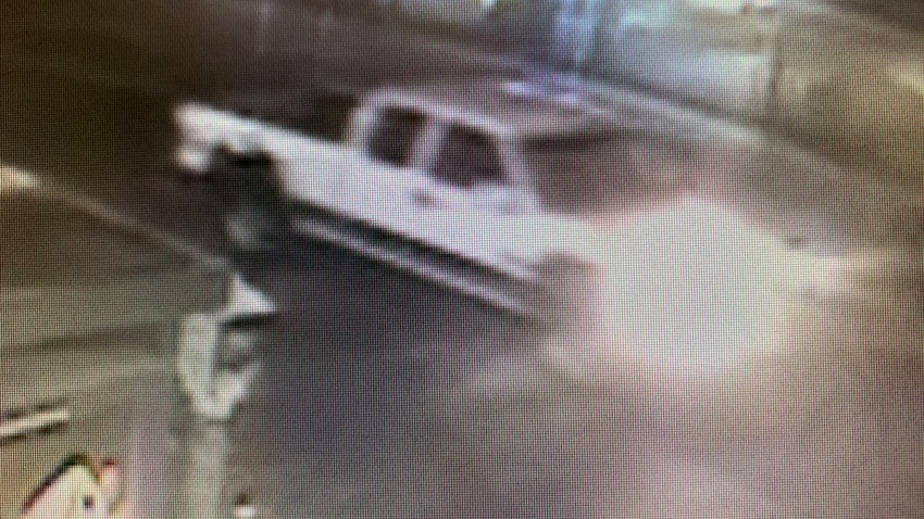 LAPD is searching for this pick-up truck involved in a fatal hit-and-run near MacArthur Park on Aug. 27, 2020.