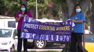 Health care workers rally in North County San Diego for more PPE