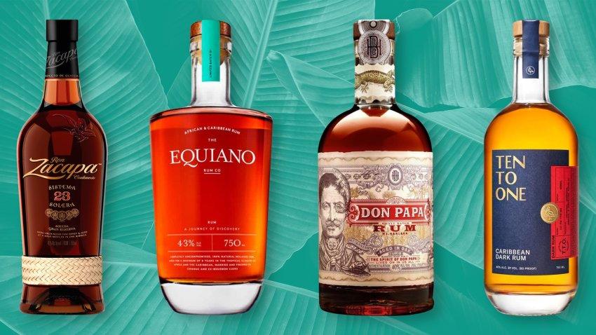 4 bottles of rum