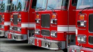 LA City Fire engines