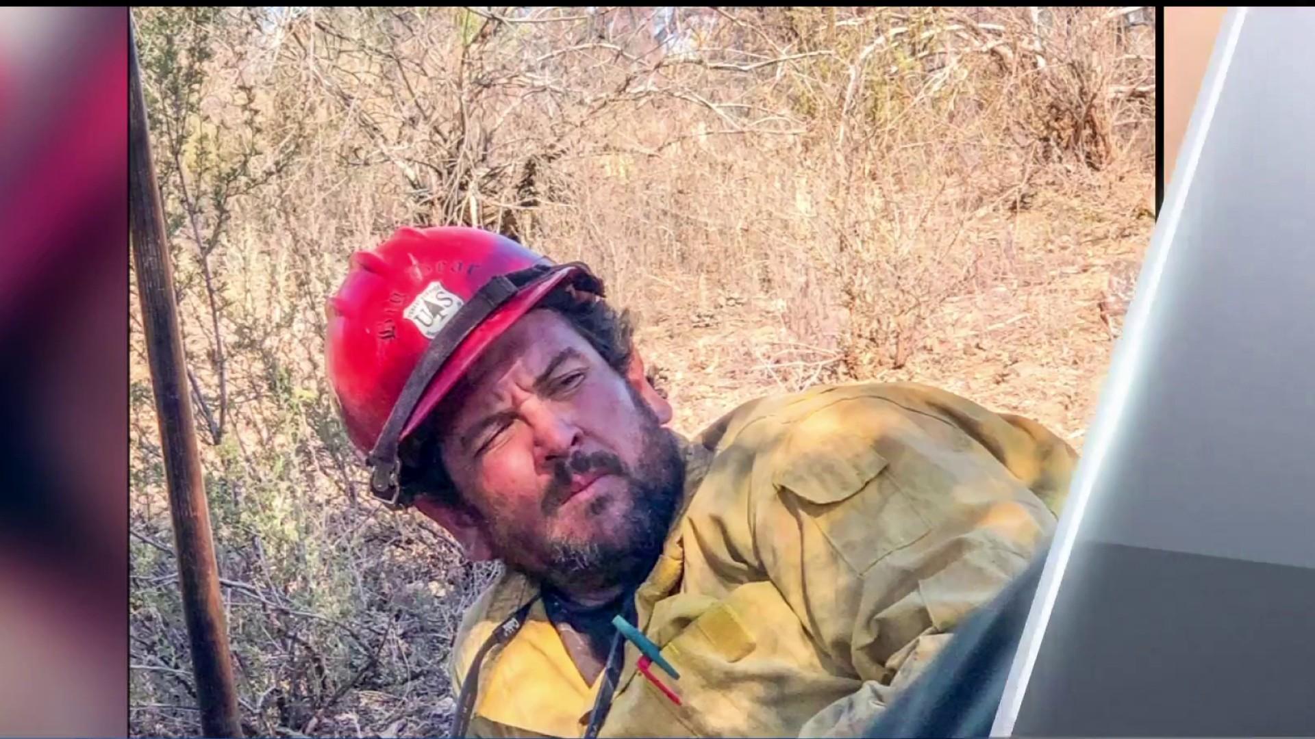 may he rest easy in heaven firefighter killed in el dorado fire identified nbc los angeles firefighter killed in el dorado fire