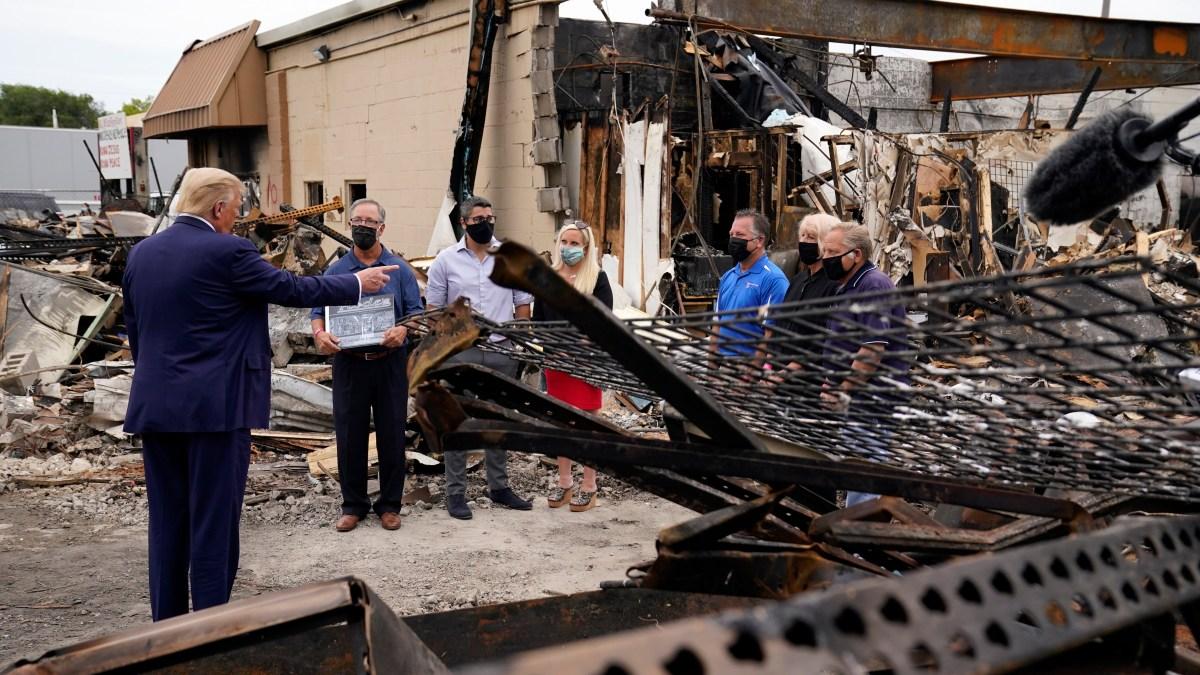 Trump Blames 'Domestic Terror' for Violence During Visit to Kenosha 1