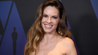 In this Nov. 18, 2018, file photo, Hilary Swank attends the Academy of Motion Picture Arts and Sciences' 10th annual Governors Awards at The Ray Dolby Ballroom at Hollywood & Highland Center in Hollywood, California.