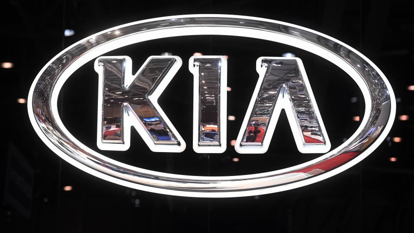 A file photo of a Kia logo.