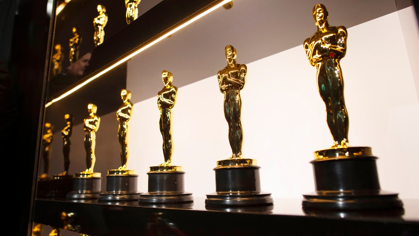 Oscars statuettes are on display backstage during the 92nd Annual Academy Awards at the Dolby Theatre.