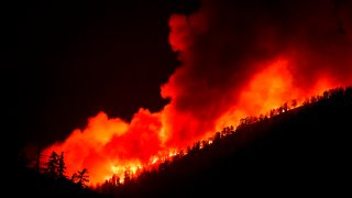 The Bobcat Fire burns in Angeles National Forest.