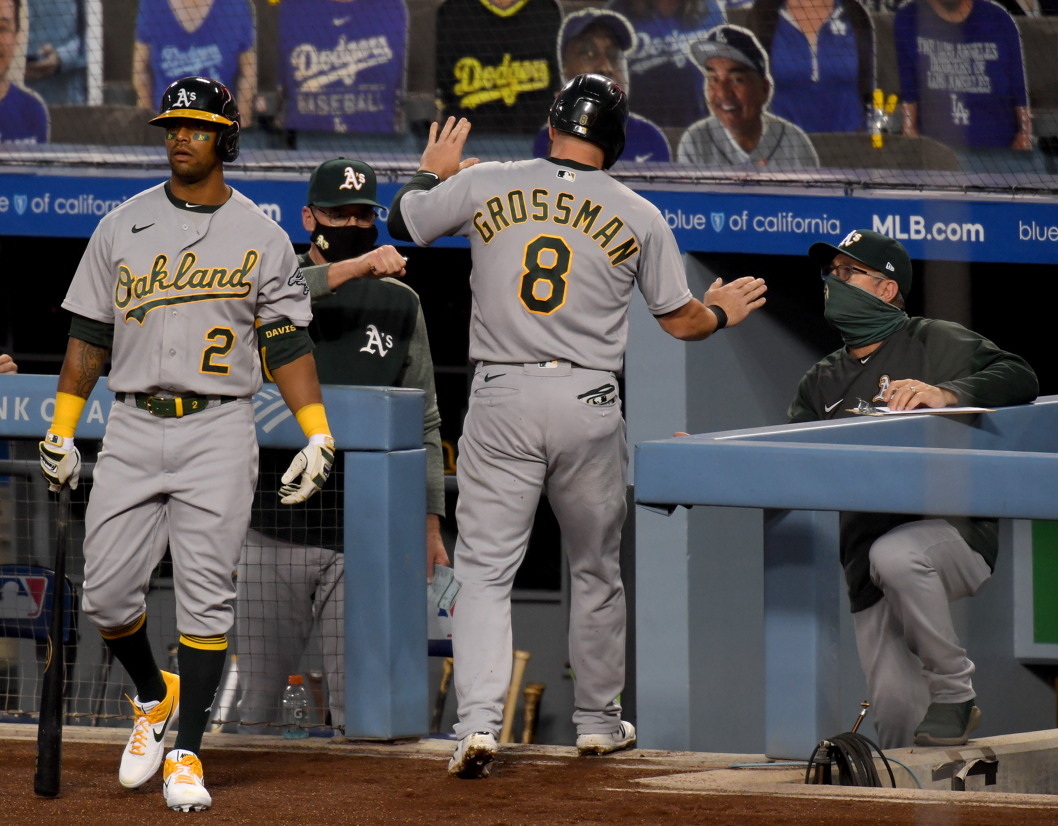 A's Defeat Dodgers 6-4 on Ramon Laureano's 9th-inning Homer