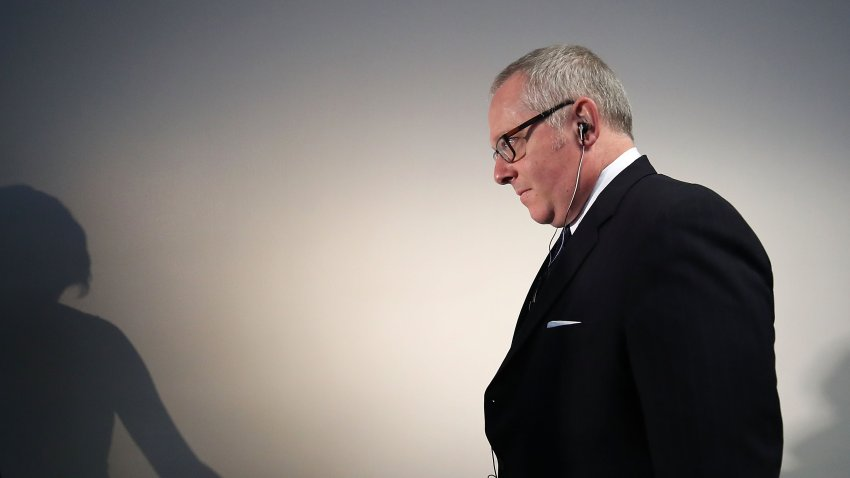 In this file photo, Former Trump campaign official Michael Caputo arrives at the Hart Senate Office building to be interviewed by Senate Intelligence Committee staffers, on May 1, 2018 in Washington, DC. The committee is investigating alleged Russian interference in the 2016 U.S. presidential election.