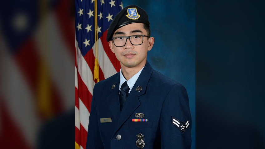 Senior Airman Jason Khai Phan, photographed in 2019 as an airman first class, 66th Security Forces Squadron, of Anaheim, California.