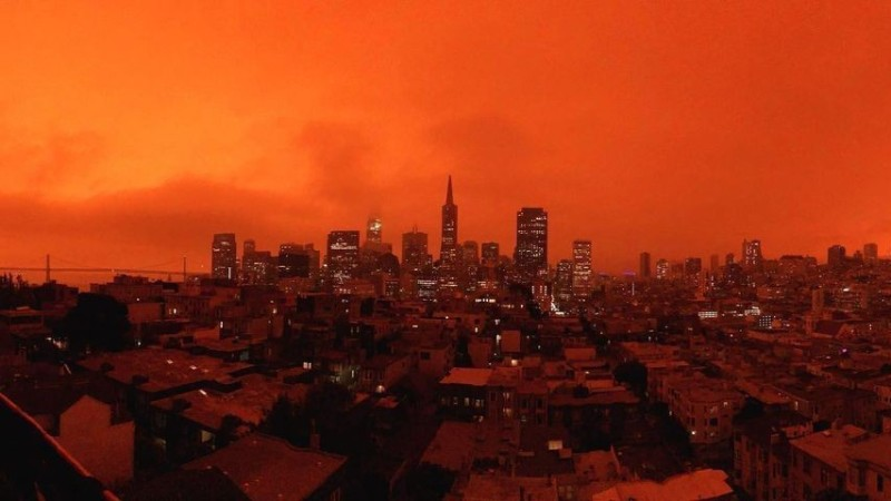 PHOTOS: Bay Area Sky Turns Orange and Yellow As Smoke Blankets Region