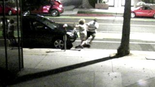 The robbery happened near the 1500 block of 6th Street at about 8:50 p.m. in Santa Monica, California.