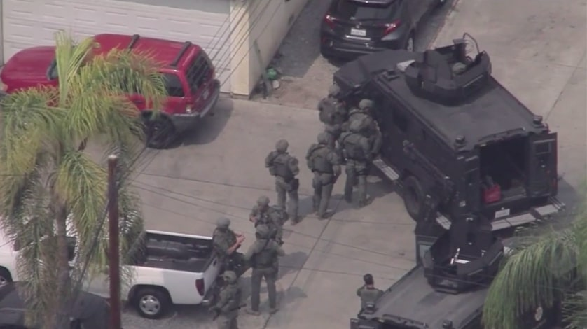 Standoff in Lynwood May Be Connected to  Manhunt in Shooting of Two Deputies, Sources Say