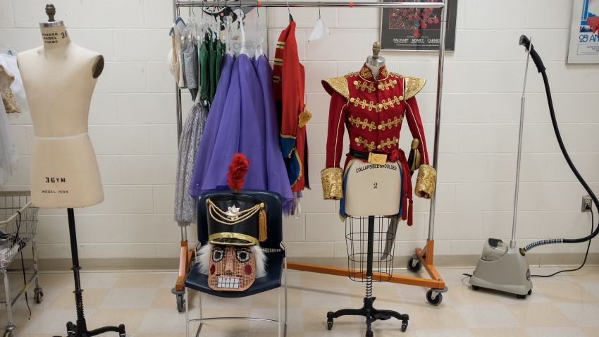 "Costumes are seen during Dayton Ballet's production of ""The Nutcracker"""