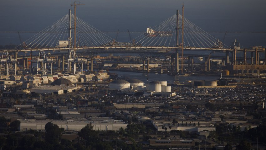 The Gerald Desmond Bridge.