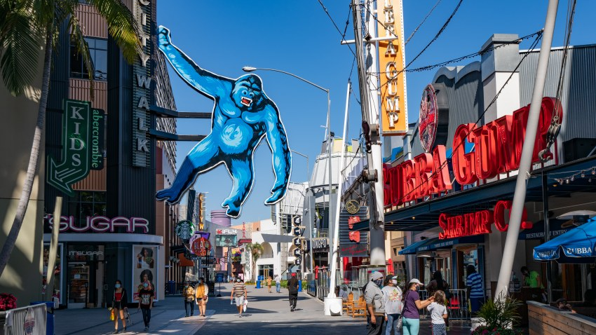 Experience A Democracy Thrill Ride At The Universal Citywalk Vote Center Nbc Los Angeles