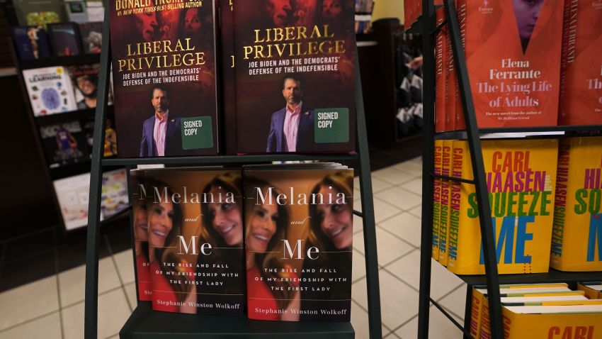 "The book ""Melania and Me: The Rise and Fall of My Friendship with the First Lady"" by Stephanie Winston Wolkoff is viewed on display at Barnes & Noble bookstore on 5th Avenue in New York on September 1, 2020"