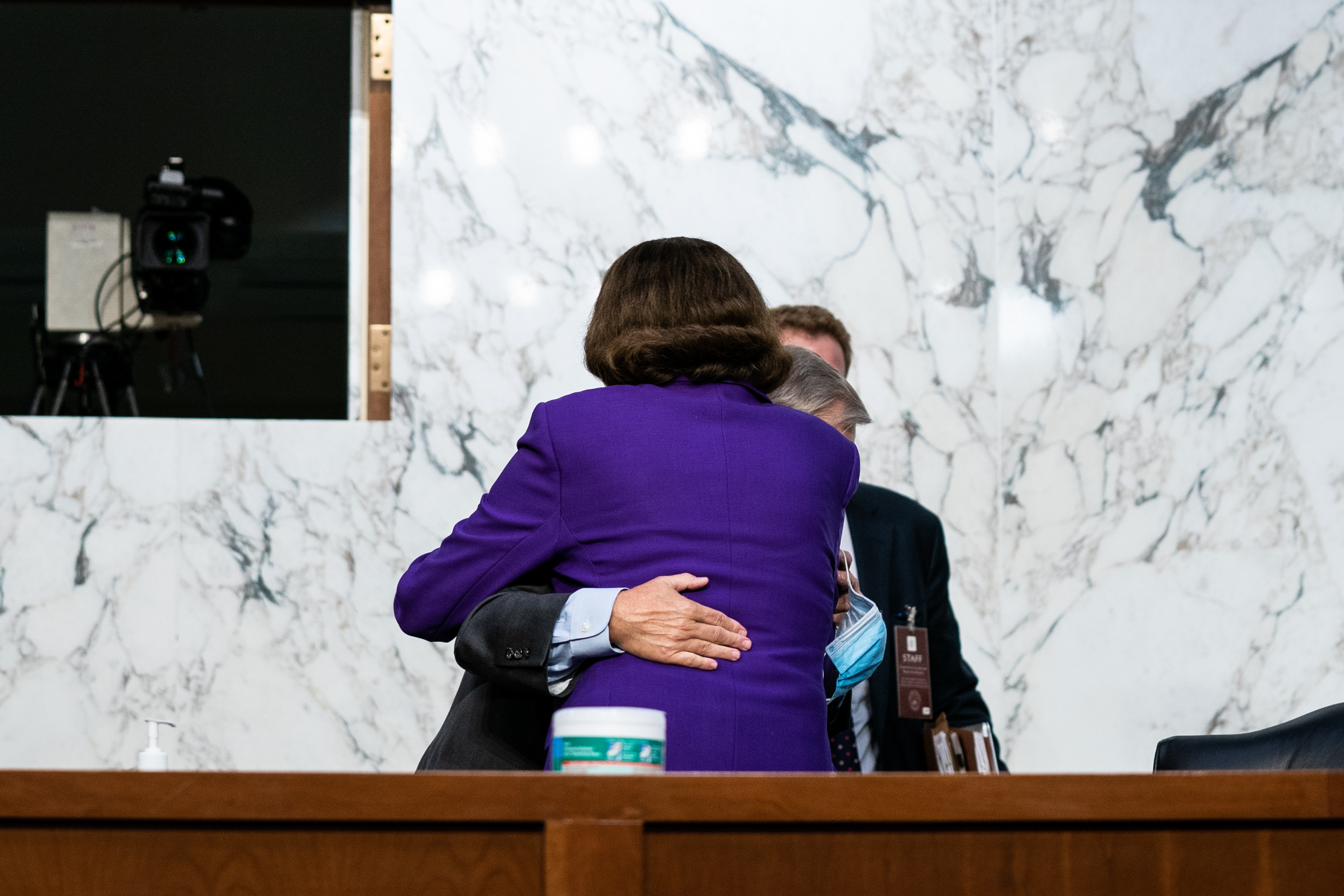 With a Hug, Feinstein Draws Liberal Critics at Court Hearing 1