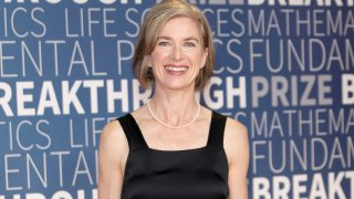 In this Nov. 4, 2018, file photo, Jennifer Doudna attends the 2019 Breakthrough Prize at NASA Ames Research Center in Mountain View, California.