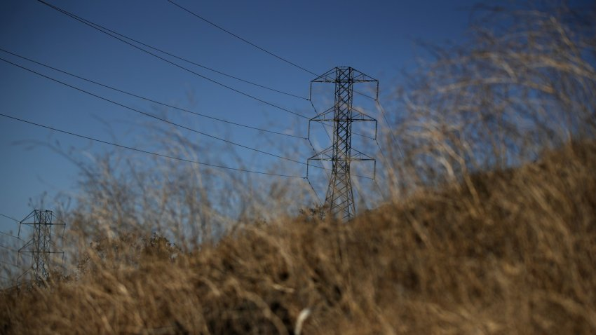 A view of power lines.
