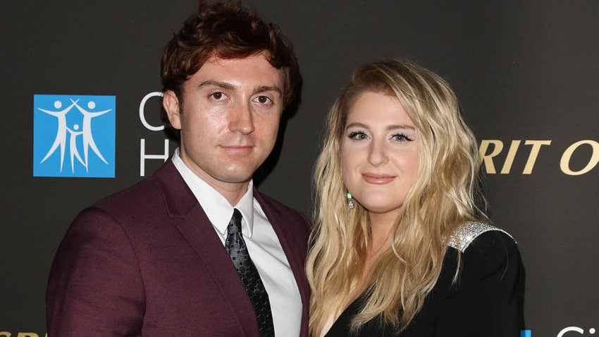 Meghan Trainor and Daryl Sabara attend the City Of Hope's Spirit Of Life 2019 Gala at The Barker Hanger, Oct. 10, 2019, in Santa Monica, Calif.