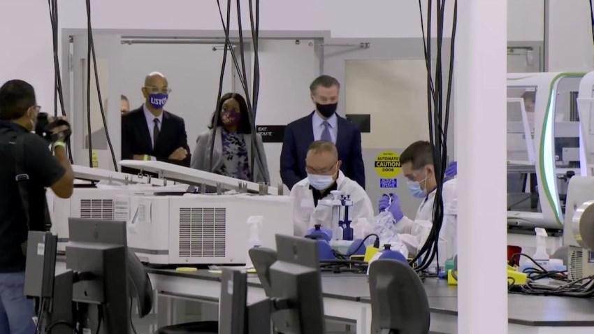A COVID-19 testing lab in Valencia.