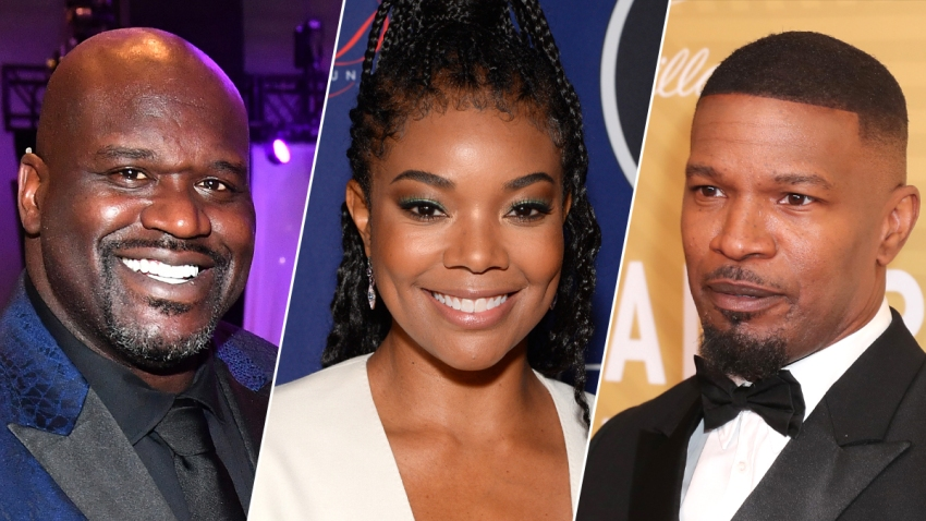 """From left: Shaquille O'Neal, Gabrielle Union and Jamie Foxx are set to participate in a live-streamed special of """"Black Entrepreneurs Day."""""""